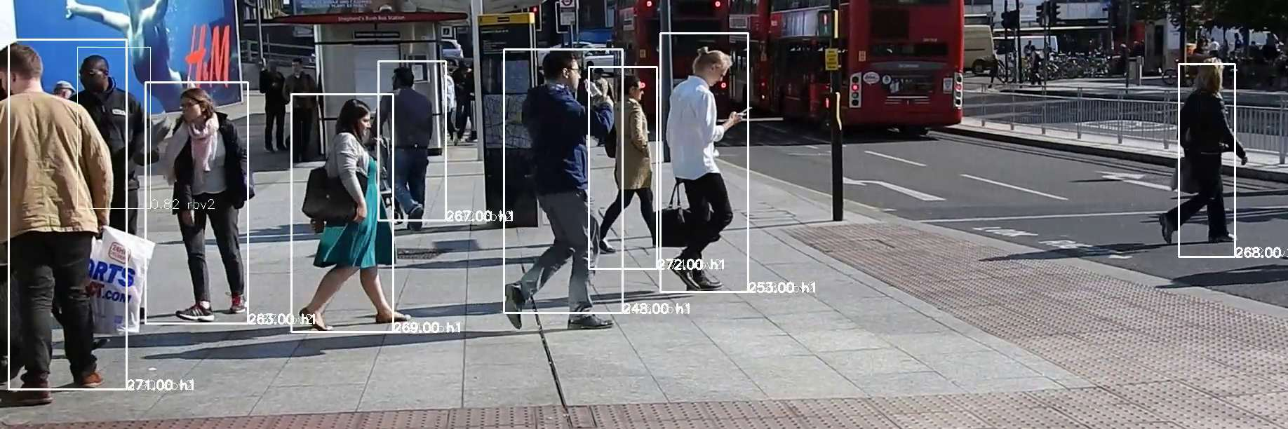 Counting pedestrians from video